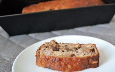 Bananenbrood met noten en chocolade