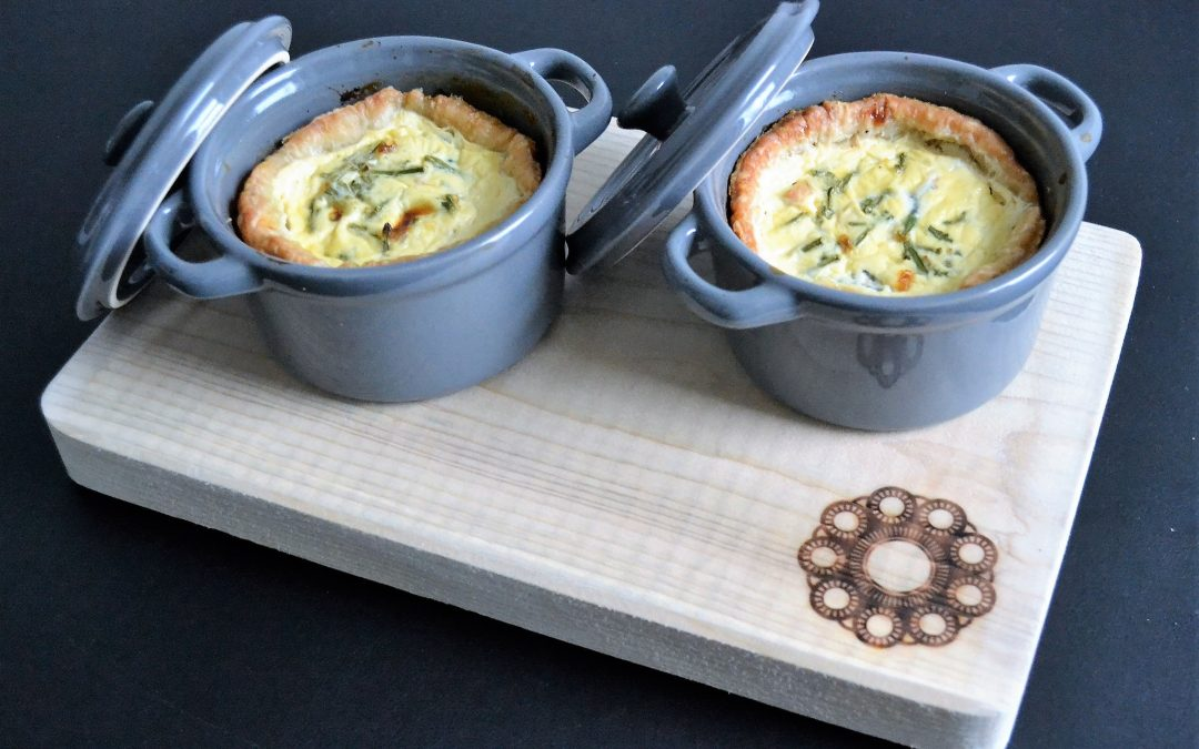Mini quiche met zalm en zeekraal
