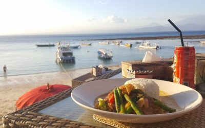 Eetdagboek #9 Eten op Bali met prachtig uitzicht