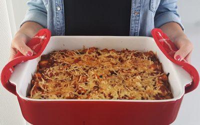 Lekker pittige ovenpasta met kip