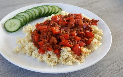 Couscous recept met tomaten-gehaktsaus